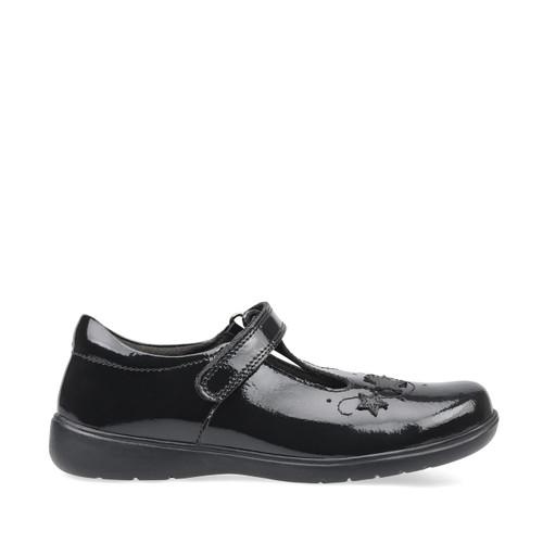 Start-Rite Star Jump, black patent girls riptape t-bar school shoes 2801_3