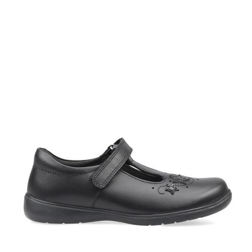 Start-Rite Star Jump, black leather girls t-bar riptape school shoes 2801_7