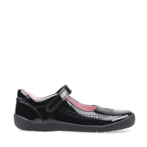 Start-Rite Spirit, black patent girls riptape school Shoes 2802_3