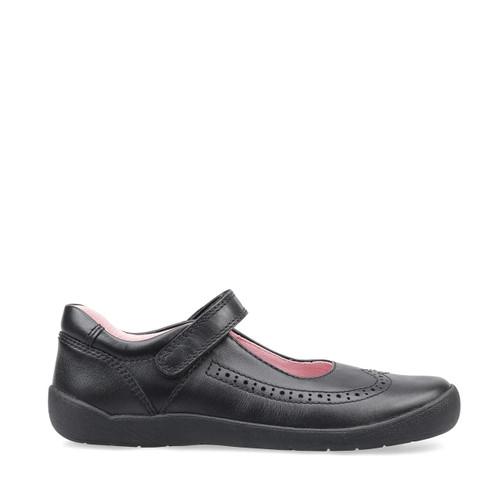 Start-Rite Spirit, black leather girls riptape school shoes 2802_7
