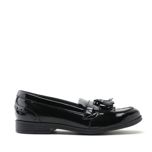 Start-Rite Sketch, black patent girls slip-on school shoes 3515_3