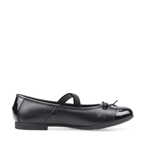 Start-Rite Idol, black leather/patent girls slip-on school shoes 3516_7