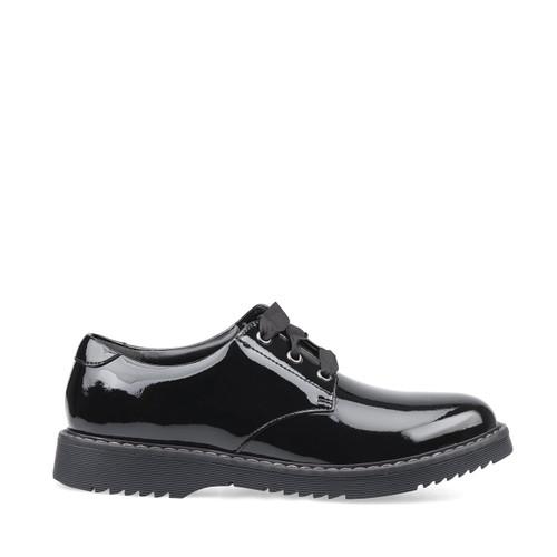 Start-Rite Impact, black patent girls lace-up school shoes 3518_3
