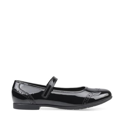 Start-Rite Impress, black patent girls riptape school shoes 3519_3