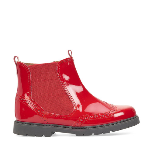 Start-Rite Chelsea, red patent girls zip-up ankle boots 1727_3