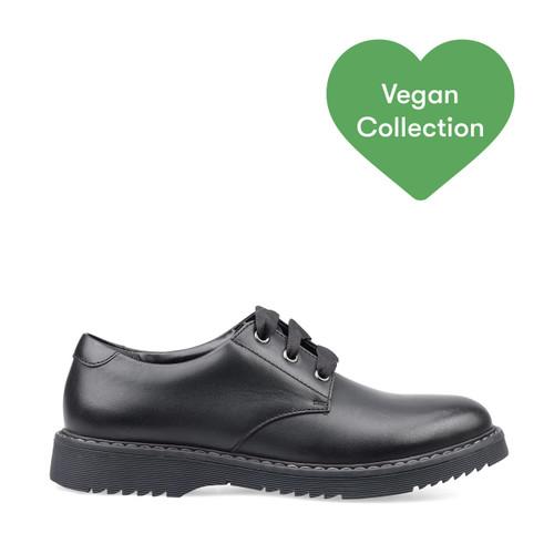 Start-Rite Impact, vegan black synthetic girls lace-up school shoes 3518_4