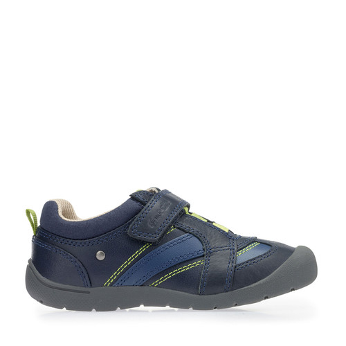 Start-Rite Start-Rite Super Soft Play Pre, Navy Blue Leather Boys Riptape Pre-School Shoes 1054_9
