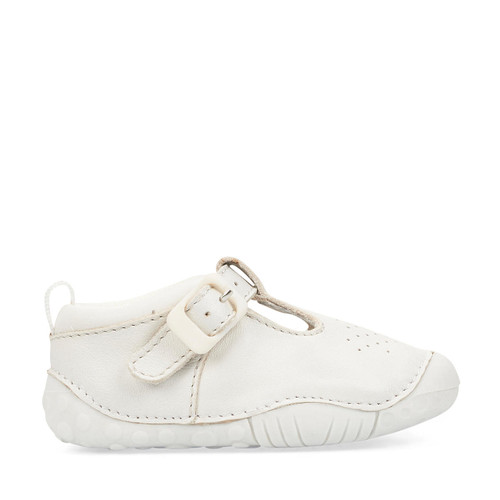 Start-Rite Baby Jack, white leather t-bar buckle pre-walkers 0746_7
