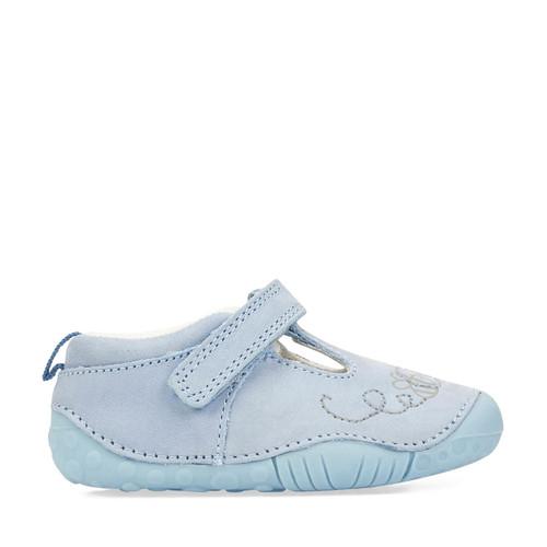 Start-Rite Honey, pale blue nubuck girls t-bar pre-walkers 0778_2