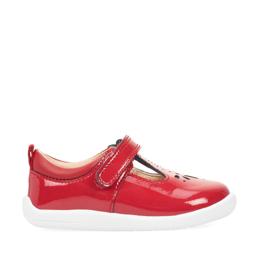 Start-Rite Puzzle, red patent girls riptape first walking shoes 0779_1