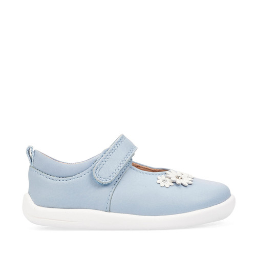 Start-Rite Fairy Tale, pale blue leather girls riptape first walking shoes 0780_2
