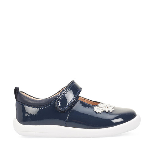 Start-Rite Fairy Tale, navy patent girls riptape first walking shoes 0780_9