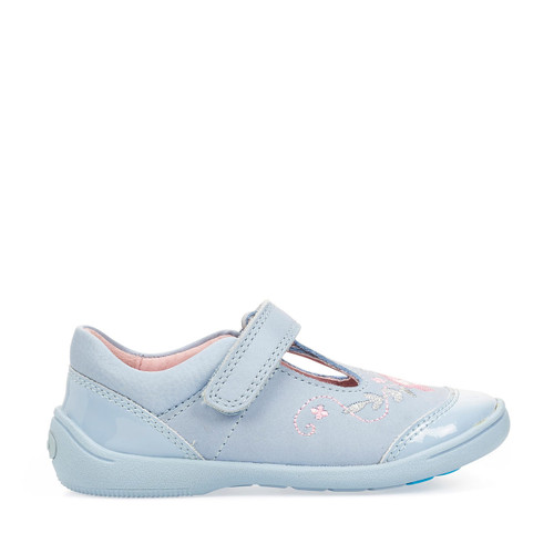 Start-Rite Dance, pale blue leather/patent girls riptape first walking shoes 1482_2