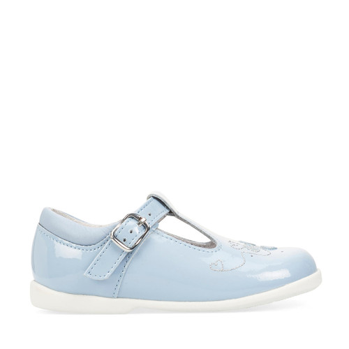 Start-Rite Busy Bee, pale blue patent girls t-bar buckle first walking shoes 1485_2