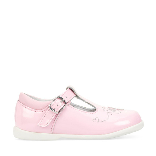 Start-Rite Busy Bee, pale pink glitter patent girls t-bar buckle first walking shoes 1485_6
