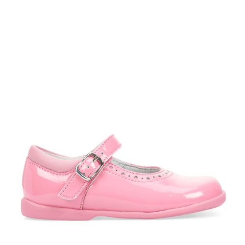 Start-Rite Happy, pink patent girls buckle first walking shoes 1486_6