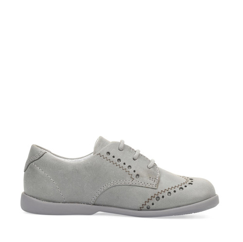 Start-Rite Memories, grey leather lace-up first walking shoes 1487_5