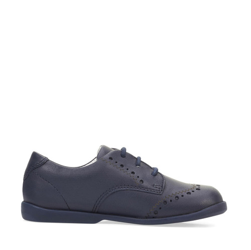 Start-Rite Memories, navy leather lace-up first walking shoes 1487_9