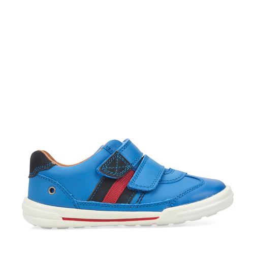 Start-Rite Seesaw, blue leather boys riptape first walking shoes 1725_2