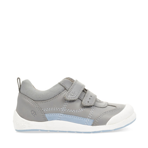 Start-Rite Tickle, grey leather riptape pre-school shoes 1731_4
