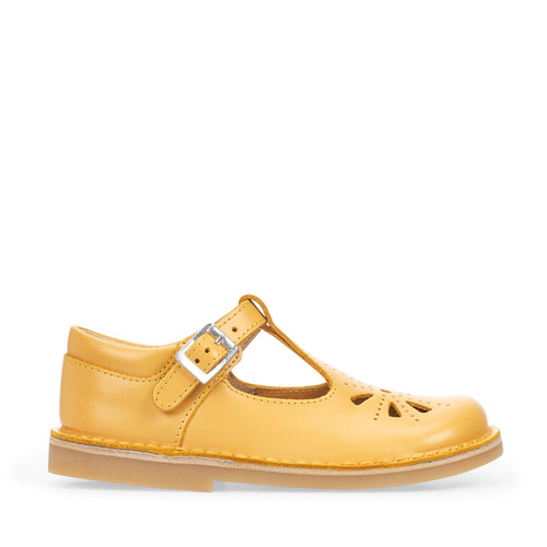 Start-Rite Lottie, yellow leather classic t-bar buckle shoes 5184_7