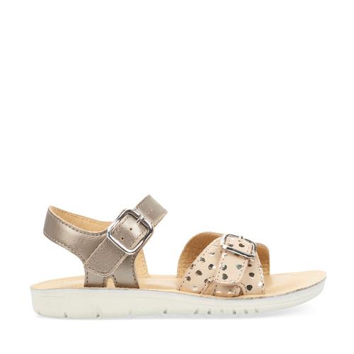 Start-Rite Enchant, gold metallic leather girls buckle sandals 5190_8