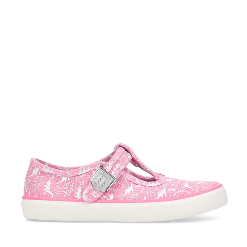 Start-Rite Fossil, pink dino print girls t-bar buckle canvas 6181_6