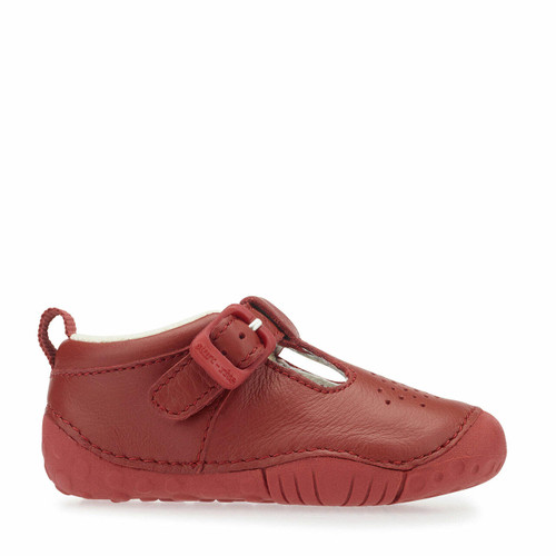 Start-Rite Baby Jack, red leather boys t-bar pre-walkers 0746_1