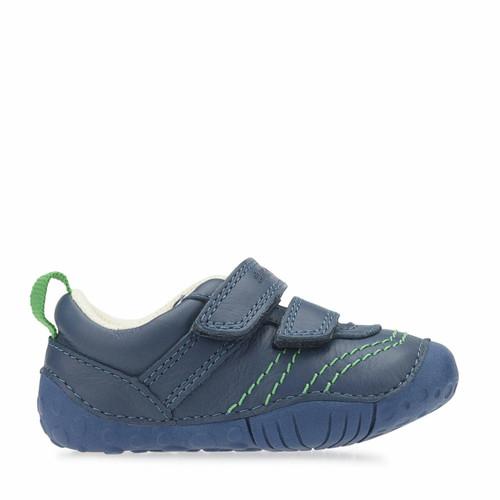 Start-Rite Baby Leo, blue leather boys riptape pre-walkers 0747_2