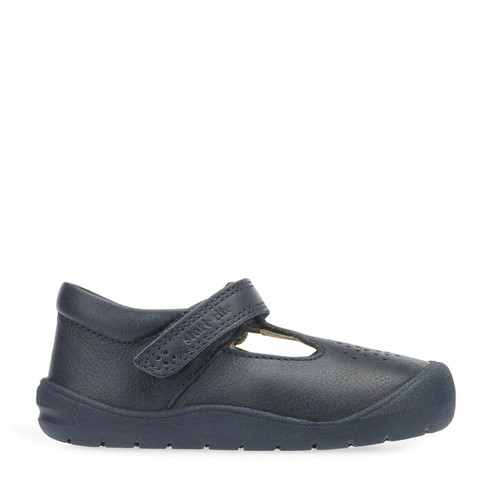 Start-Rite First Alex, navy blue leather boys riptape t-bar first walking shoes 0748_9