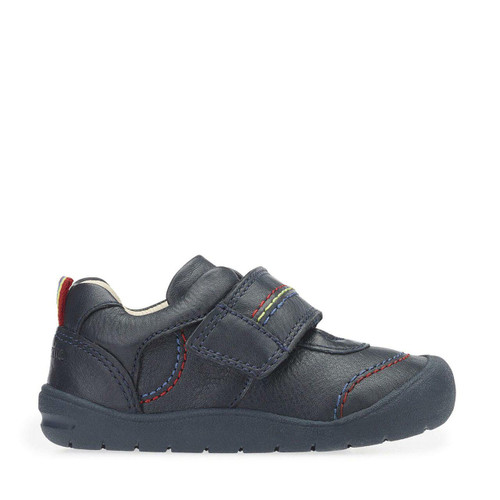 Start-Rite First Zak, navy blue leather boys riptape first walking shoes 0749_2