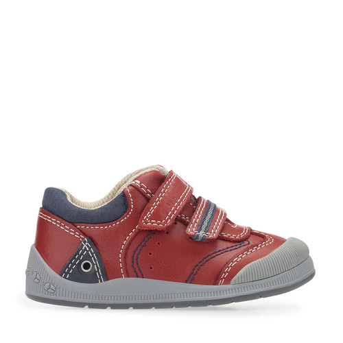 Start-Rite Tough Bug Fst, Red Leather Boys Riptape First Walking Shoes 0754_1