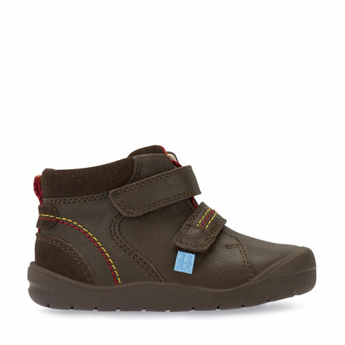 Start-Rite Burst, brown leather riptape first boots 0756_0