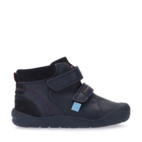 Start-Rite Burst, navy blue leather riptape first boots 0757_9