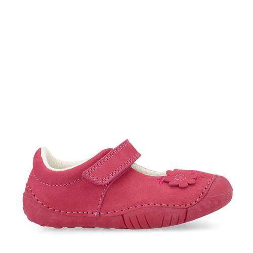 Start-Rite Petal, pink nubuck girls riptape pre-walkers 0771_6