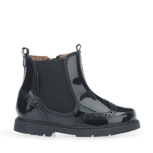 Start-Rite Chelsea, black patent girls zip-up ankle boots 1445_3