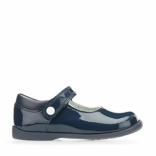 Start-Rite Nancy, Navy blue patent girls riptape first walking shoes 1462_9