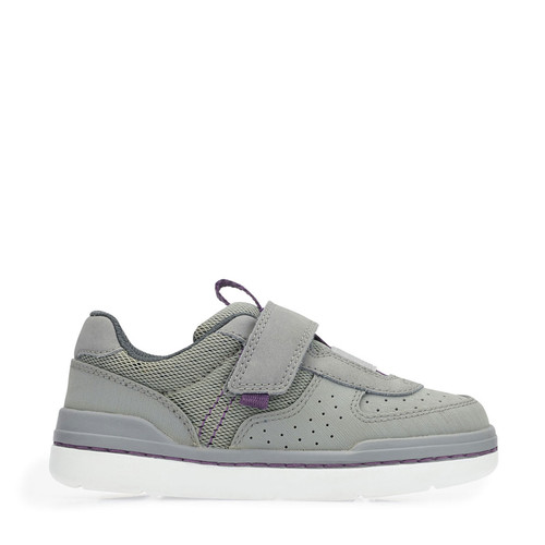 Start-Rite Flow, Grey Synthetic/Textile Riptape First Walking Shoes 1463_8