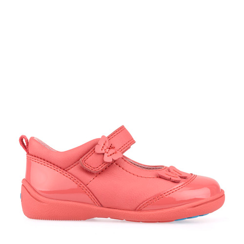 Swing, Pink Leather/Patent Girl's Riptape First Walking Shoes 1469_6