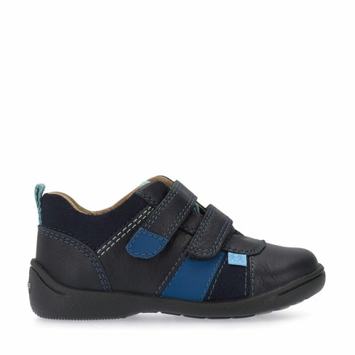 Start-Rite Grip, Navy leather boys riptape first walking shoes 1472_9
