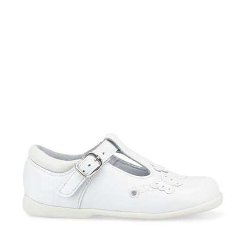 Start-Rite Sunshine, white patent girls buckle pre-school shoes 1479_4