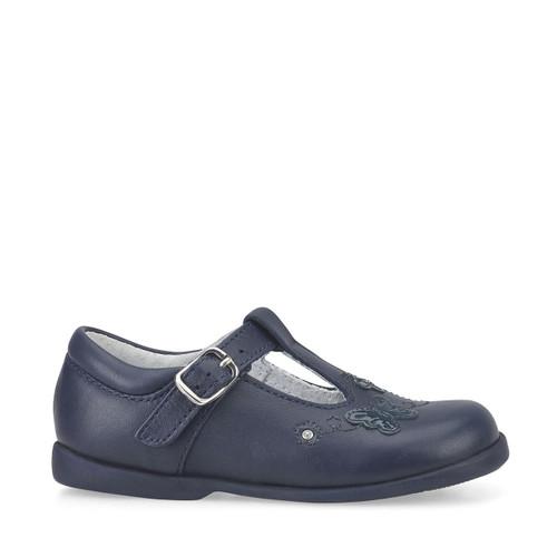 Start-Rite Sunshine, navy blue leather girls buckle pre-school shoes 1479_9