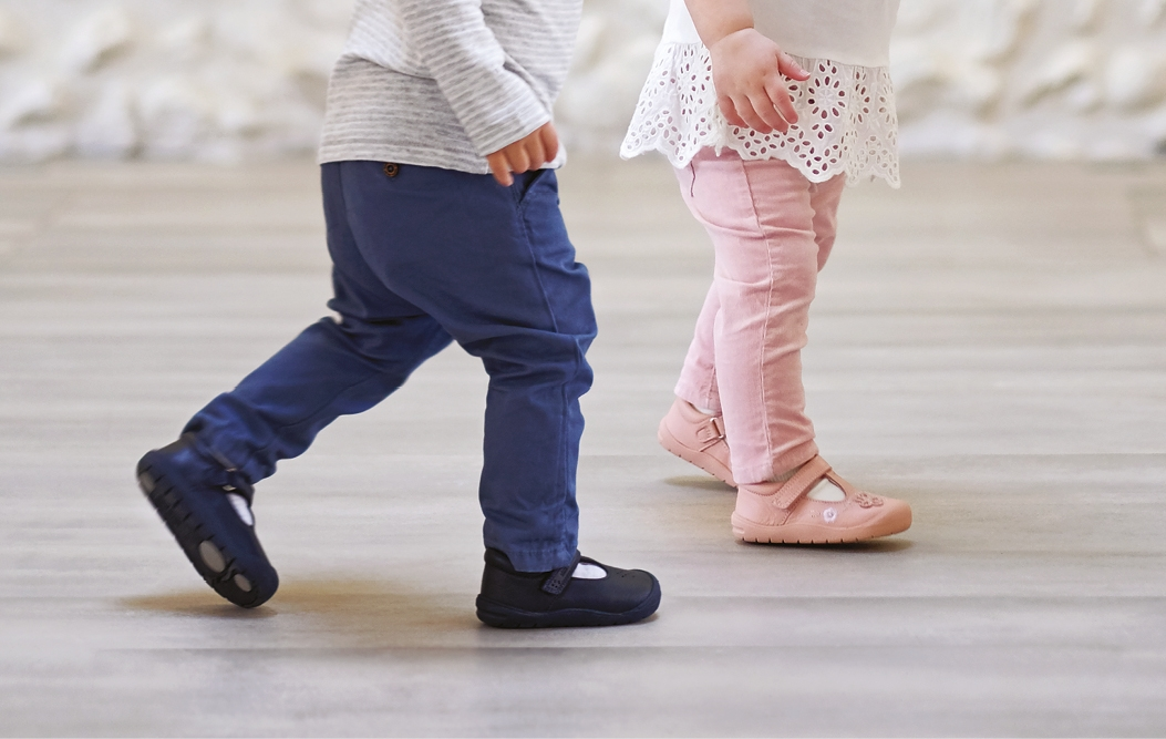 Toddlers in Start-Rite First Walking shoes