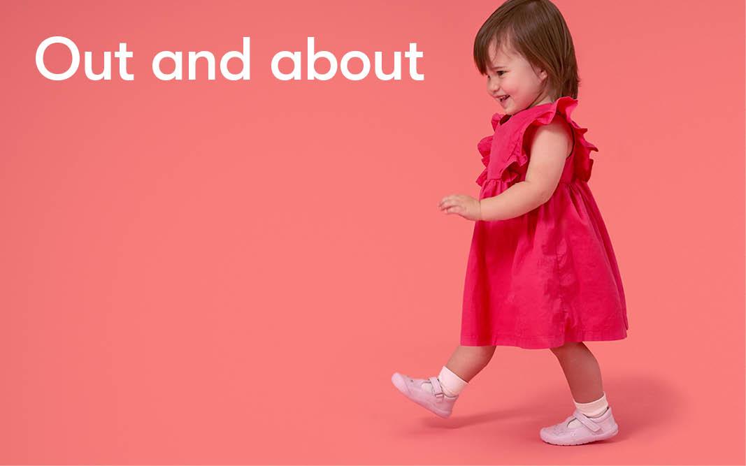 Children's foot development - first walking shoes