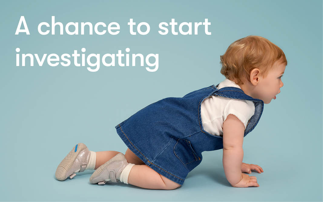 Children's foot development -crawling