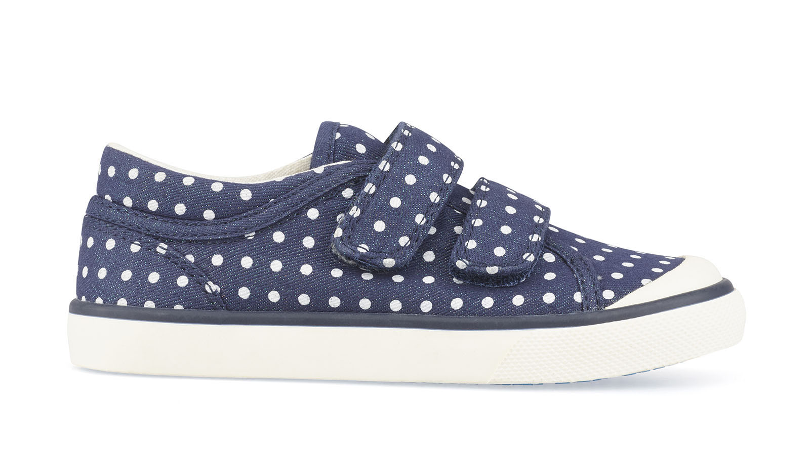 Bounce navy polka dot