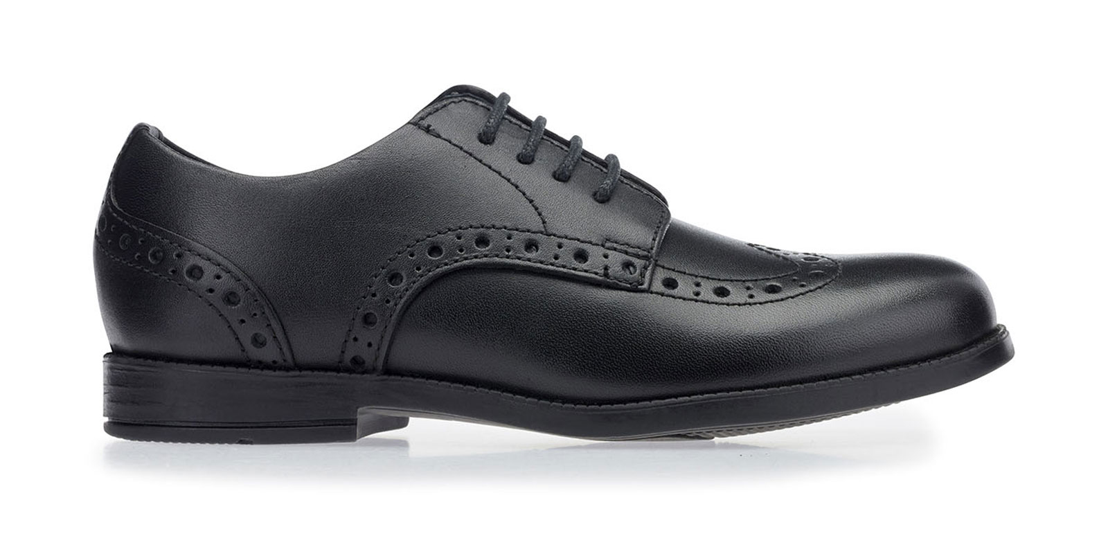 brogue black leather
