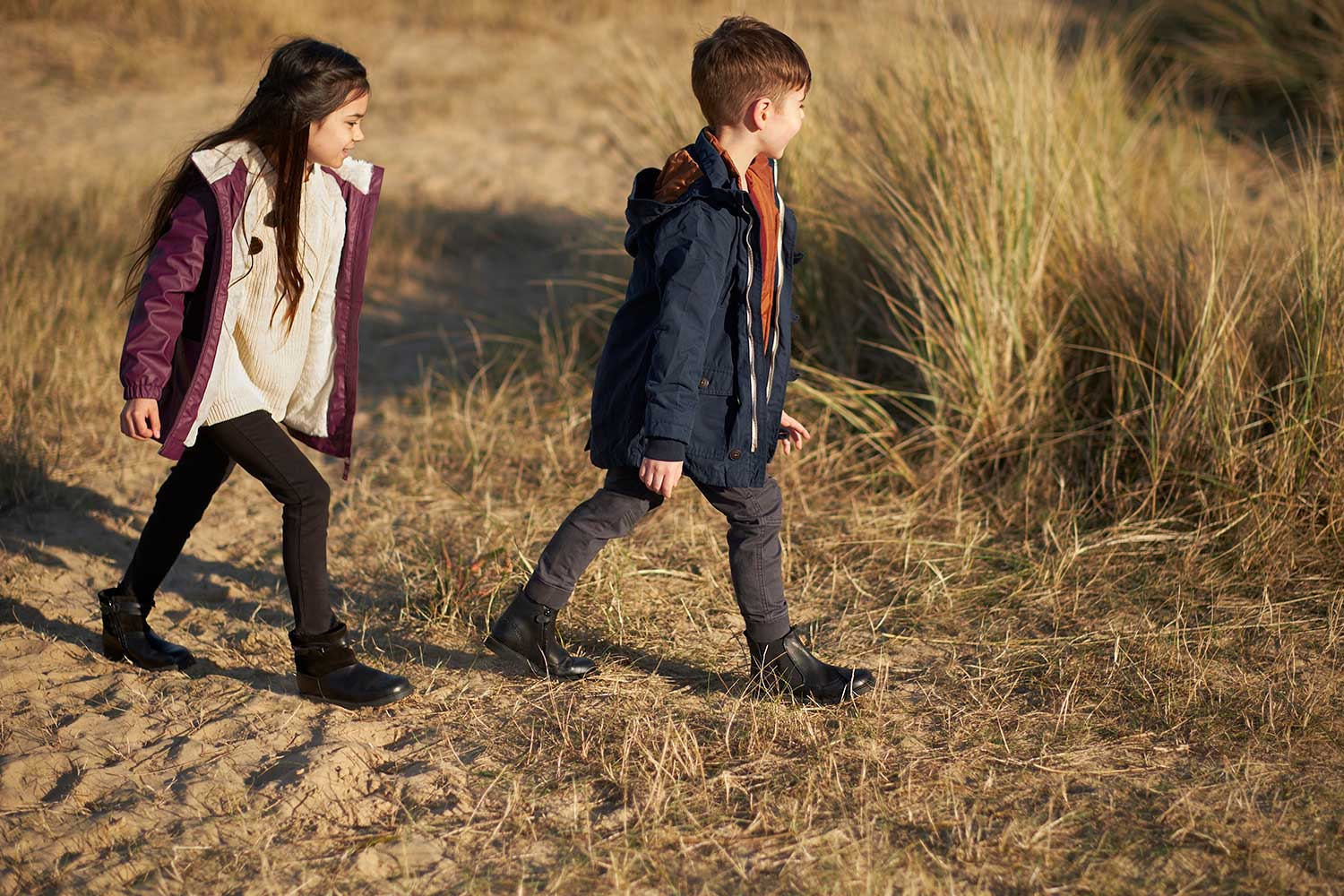 Girl and Boy Wearing Start-Rite Boots
