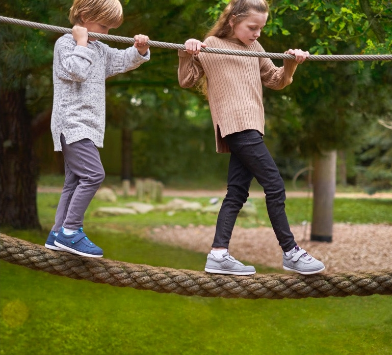 Boy and Girl on Rope