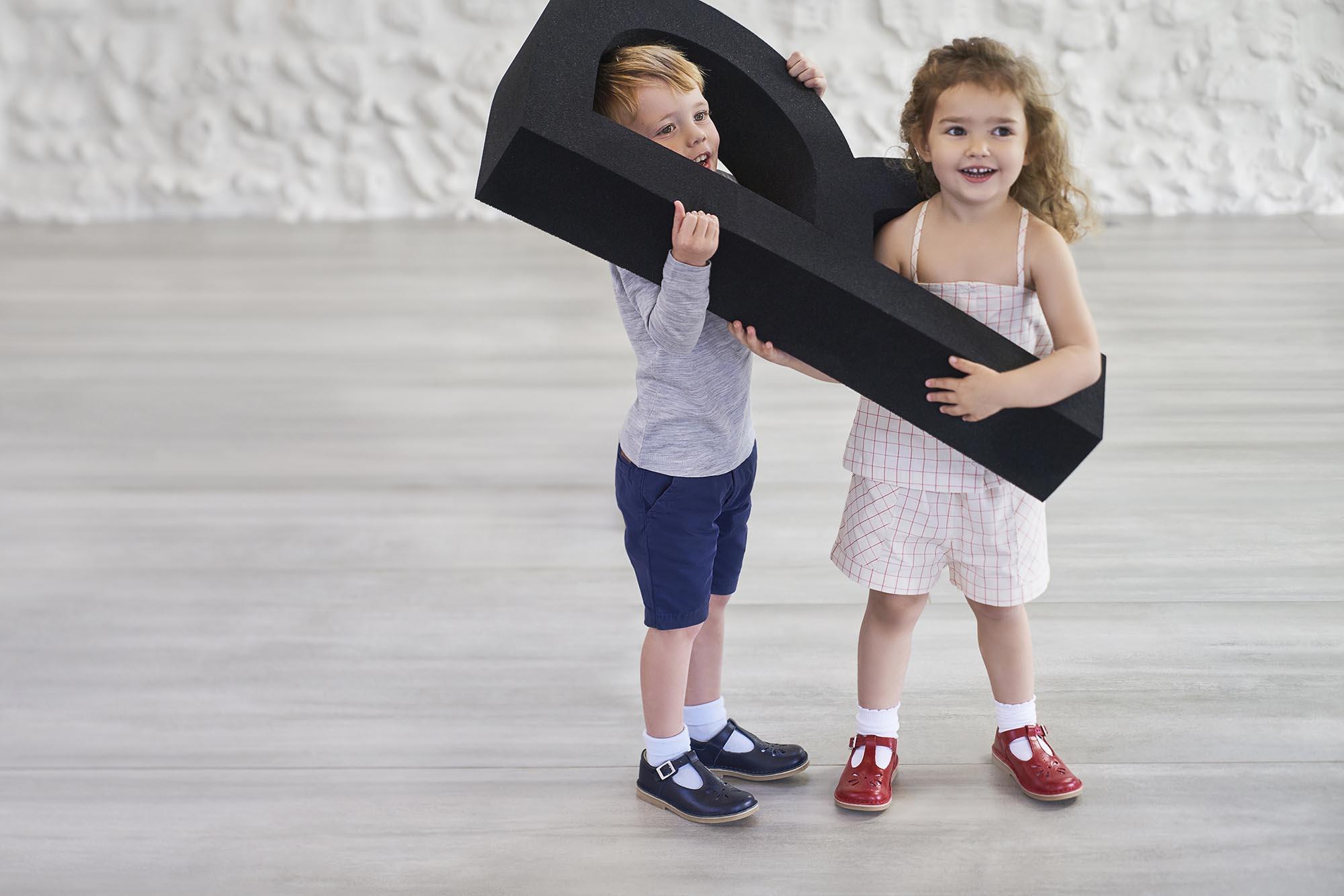 Girl and boy wearing Start-Rite Lottie